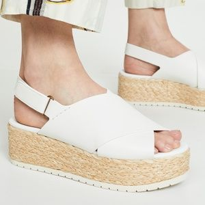Vince Jesson Espadrille Slingback Leather Sandals